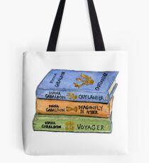 Outlander Book Stack Watercolor Tote Bag