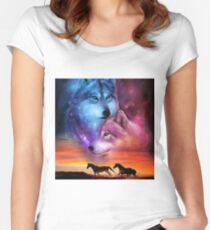 wolf art Women's Fitted Scoop T-Shirt