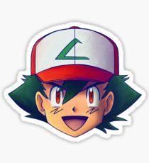 Ash Ketchum / Satoshi x7 (OS / Kanto - Johto version) Sticker