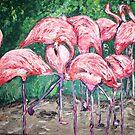 """Flamboyant Flamingos"" by Adela Camille Sutton"