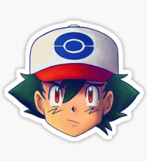 Ash Ketchum / Satoshi x7 (BW /  Unova version) Sticker