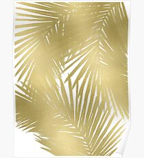 Gold Palms Poster
