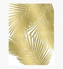 Gold Palms Photographic Print