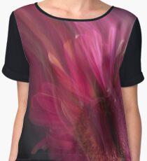Fleur Blur-Abstract Pink Gerbera Daisy Chiffon Top
