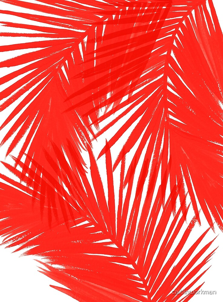Red Palms by caitlinworkman