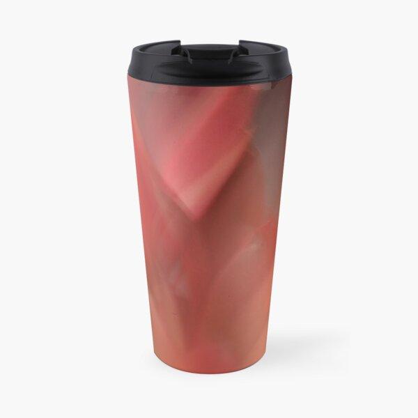 Fleur Blur-Abstract Red Leaves Photo Travel Mug