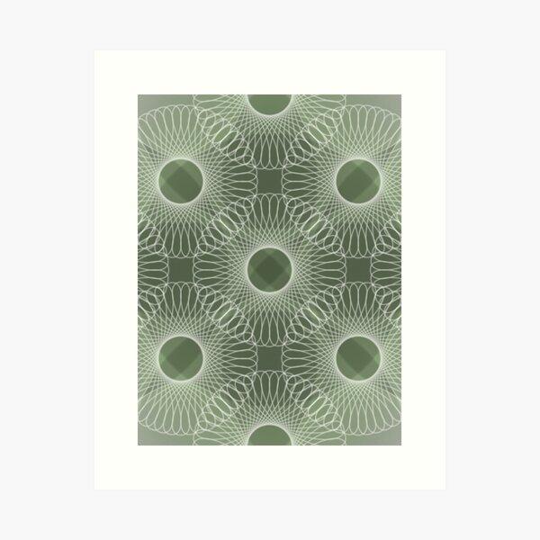 Circled in Shades of Emerald Green Art Print
