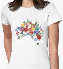 Aussie buttons Women's Fitted T-Shirt