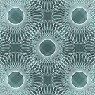 Circled in Shades of Teal by AhUmDesign