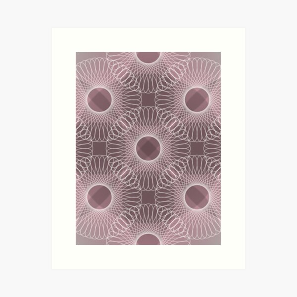 Circled in Shades of Rose Pink Art Print