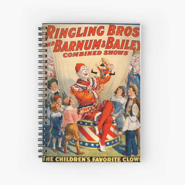 Circus Poster - Ringling Bros Barnum and Bailey Spiral Notebook