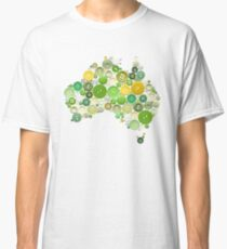 aussie buttons green and gold Classic T-Shirt