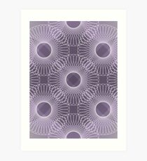 Circled in Shades of Amethyst Purple Art Print