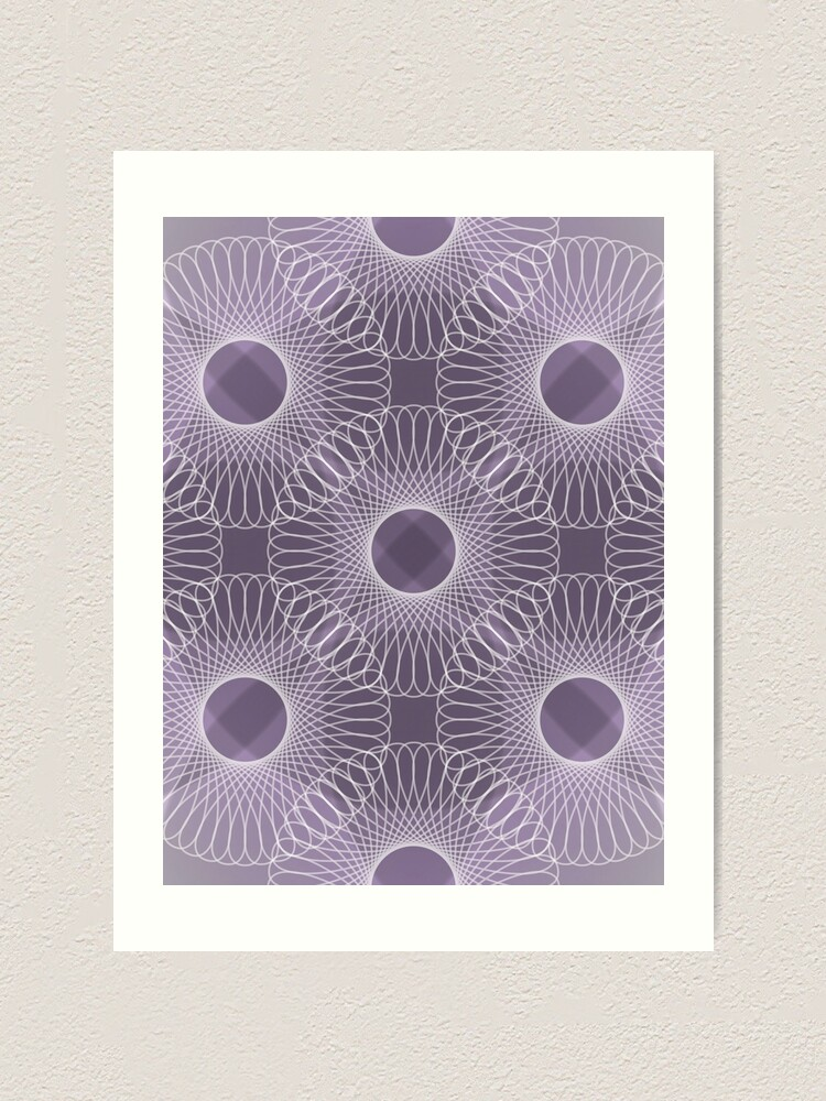 Alternate view of Circled in Shades of Amethyst Purple Art Print