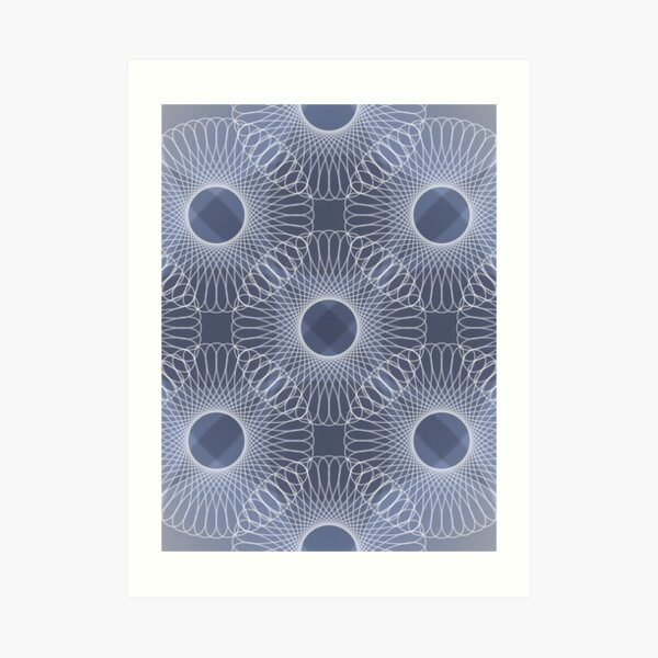 Circled in Shades of Sapphire Blue Art Print