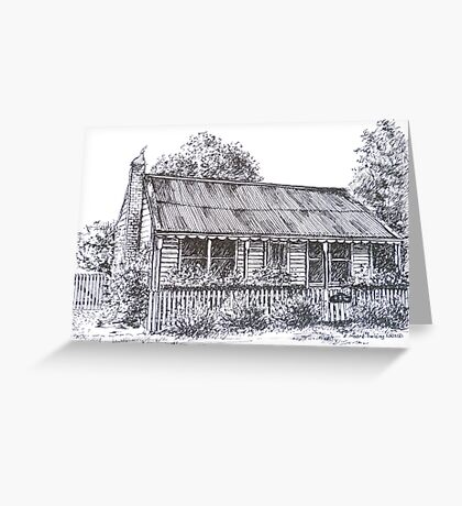 Hiscock's Cottage, Buninyong Victoria c1840.  Greeting Card