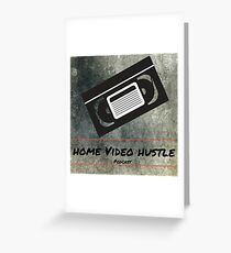 Home Video Hustle Podcast Logo Greeting Card