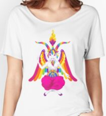 1997 Neon Rainbow Baphomet Women's Relaxed Fit T-Shirt