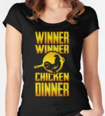 Winner Winner Chicken Dinnnnner!  Women's Fitted Scoop T-Shirt