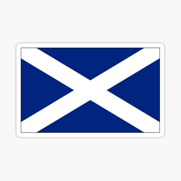 Scotland Flag Mini Skirt - Scottish St Andrews Cross Sticker