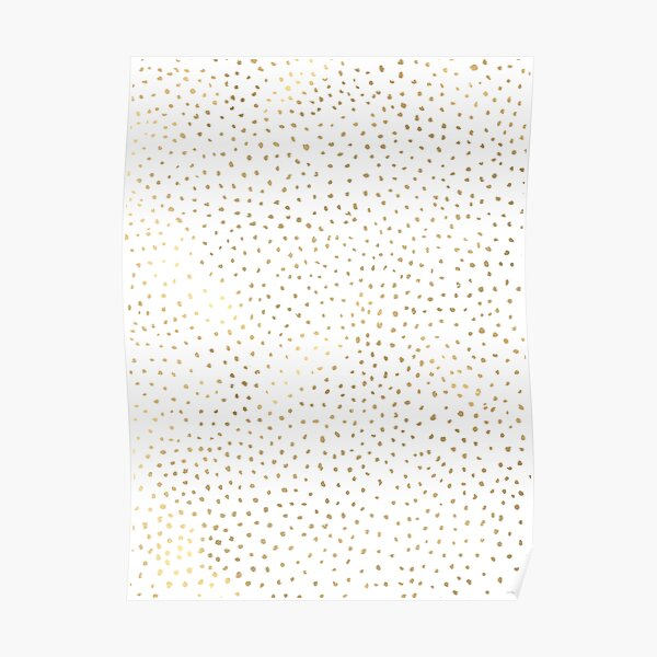 Dotted Gold and White Poster