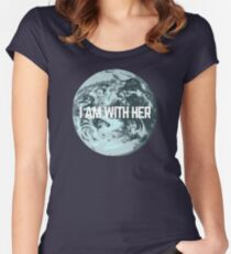 I AM WITH HER Women's Fitted Scoop T-Shirt