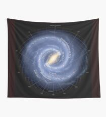 MILKY WAY : Galaxy Map Wall Tapestry