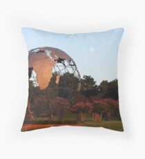 The Earth and the Moon Throw Pillow