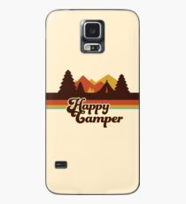Happy Camper (Retro, 70s, Camping) Case/Skin for Samsung Galaxy