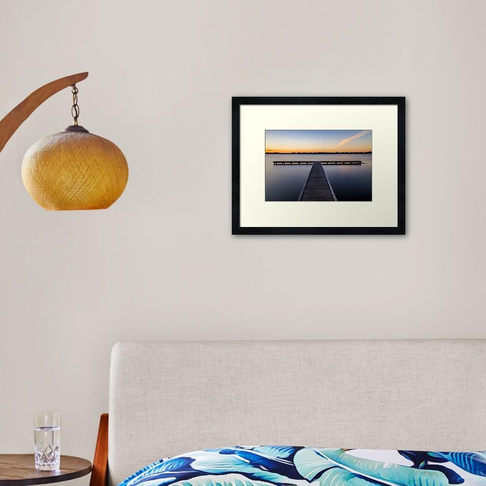 Lake Wendouree Jetty Framed Art Print