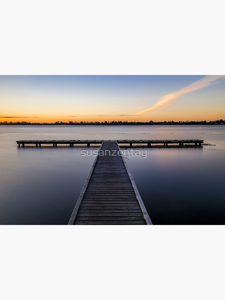 Lake Wendouree Jetty by susanzentay