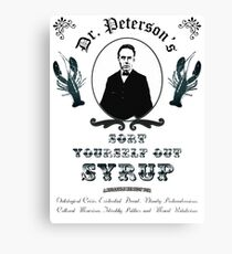 Sort Yourself Out Syrup Old Timey Jordan Peterson Meme Canvas Print