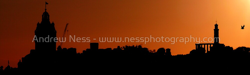 Silhouette of Edinburgh by Andrew Ness - www.nessphotography.com