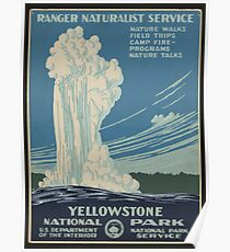 Yellowstone Nationalpark Poster