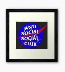 NASA Anti Social Social Club Framed Print