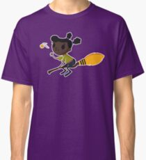 Retro Witch on a Broom (1) Classic T-Shirt