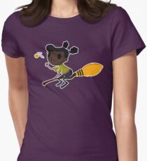 Retro Witch on a Broom (1) T-Shirt