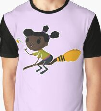 Retro Witch on a Broom (1) Graphic T-Shirt