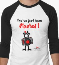 Red - The New Guy - You've just been Flashed ! Men's Baseball ¾ T-Shirt