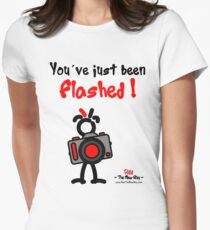 Red - The New Guy - You've just been Flashed ! Women's Fitted T-Shirt