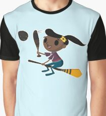 Retro Witch on a Broom (2) Graphic T-Shirt
