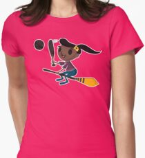 Retro Witch on a Broom (2) T-Shirt