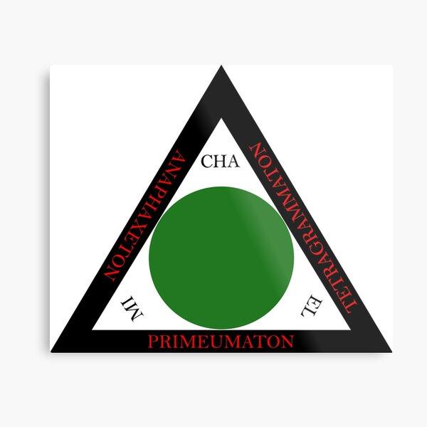Goetia Triangle - Traditional Greek Version Metal Print