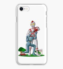 Ultraman funny Fhight iPhone Case/Skin