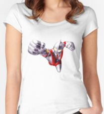 ultraman flying Women's Fitted Scoop T-Shirt