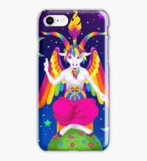1997 Neon Rainbow Baphomet iPhone Case/Skin