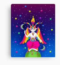1997 Neon Rainbow Baphomet Canvas Print