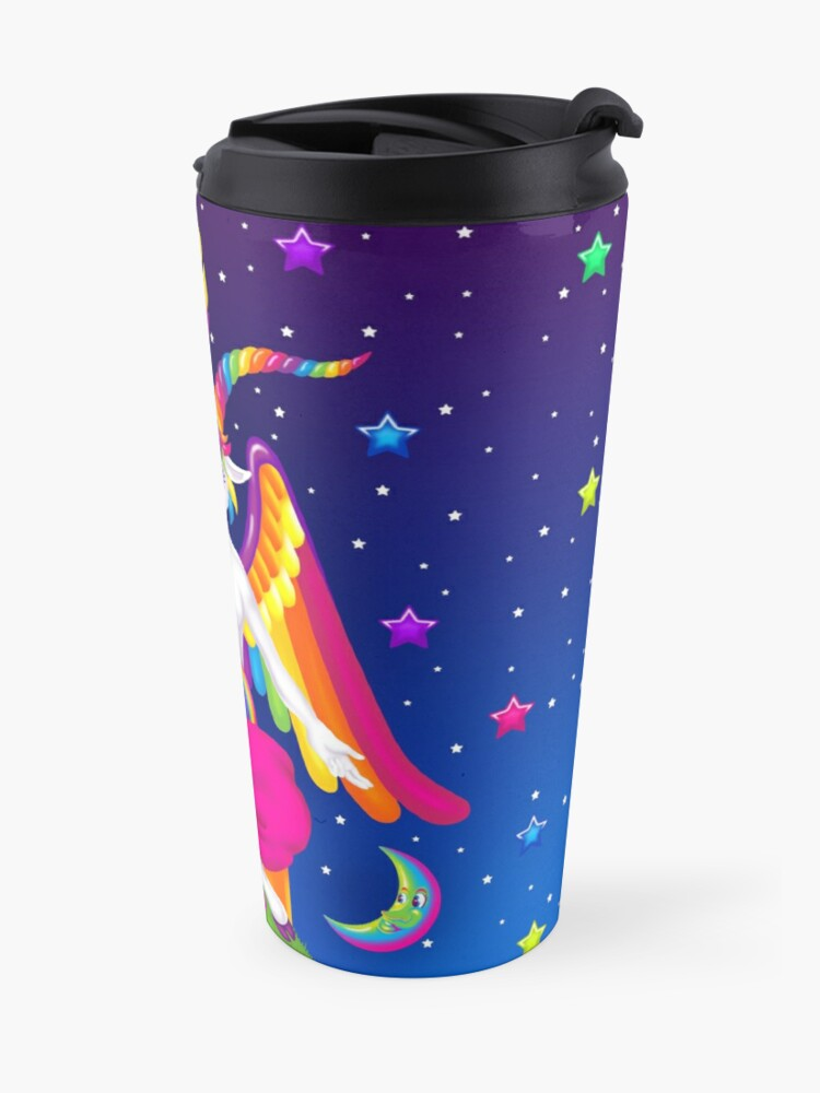 Alternate view of 1997 Neon Rainbow Baphomet Travel Mug