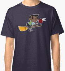 Retro Wizard on a Broom (2) Classic T-Shirt