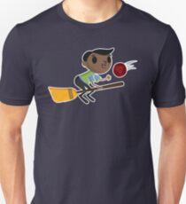 Retro Wizard on a Broom (2) T-Shirt